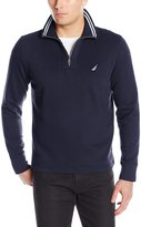 Nautica Men's Long Sleeve Fleece Quarter-Zip Knit
