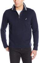 Nautica Men's Long Sleeve Fleece Quarter-Zip Knit