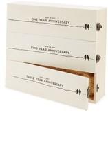 True Fabrications Anniversary Wine Box - Beige