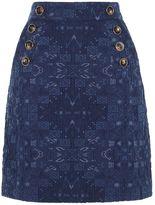 Karen Millen Denim Jacquard Mini Skirt