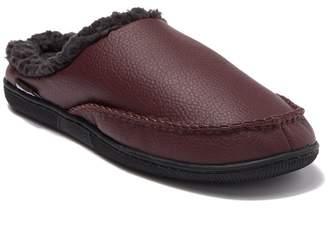 Muk Luks Faux Leather & Faux Fur Lined Moccasin Slipper