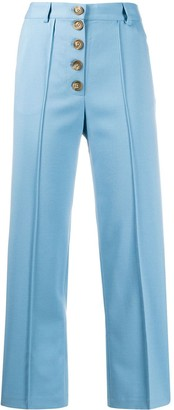 Each X Other Buttoned Straight-Leg Trousers