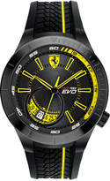 Ferrari Men's Red Rev Evo Black Silicone Strap Watch 46mm 0830340