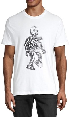 French Connection Robot Skeleton Cotton Tee