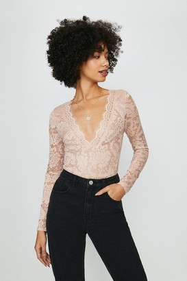 Coast Scallop Lace V Neck Long Sleeve Body