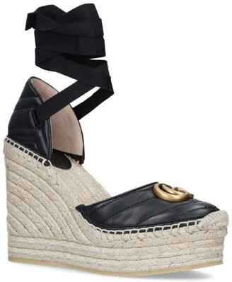 Gucci Palmyra Wedge Sandals 85