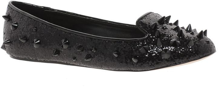 Carvela Lolita Studded Glitter Slipper Shoes