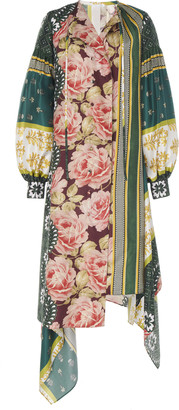 Oscar de la Renta Full Sleeve Printed Midi Dress