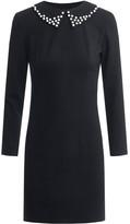 Dressarte Paris Little Black Dress Removable Collar Embellished With Pearls
