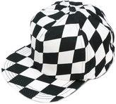 Off-White chequered flat peak cap - men - Cotton/Spandex/Elastane - One Size