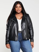 Junarose Curve Stima Leather Jacket - Black