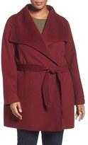 T Tahari Plus Size Women's Tahari 'Ella' Wrap Coat