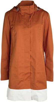 Joseph Orange Techno Taffeta Contrast Trim Hooded Zero Jacket M