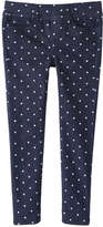 Joe Fresh Kid Girls' Print Jegging, Dark Wash (Size M)