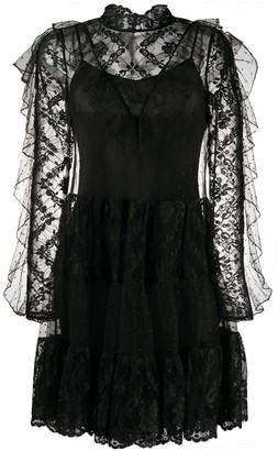Temperley London Ruffled Lace Dress