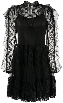 Temperley London ruffled lace dress