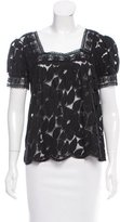 Anna Sui Scalloped Lace Top