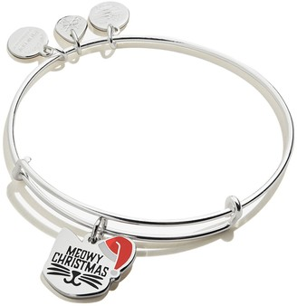 Alex and Ani Color Infusion Meowy Christmas Expandable Wire Bangle Bracelet