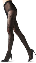 Natori Leopard Mix Sheer Tights