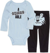 Okie Dokie 2-pc. Long Sleeve Bodysuit Set-Baby Boys