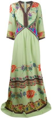 Etro Silk Floral Print Maxi Dress
