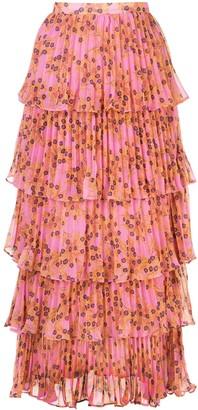 Alexis Fluera layered floral-print skirt