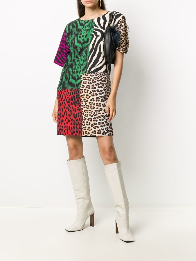 Thumbnail for your product : Boutique Moschino Animal Print Shift Dress