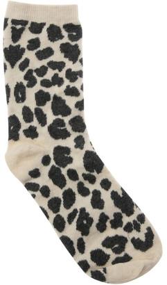 Miss Shop T77103S Leopard Print Socks