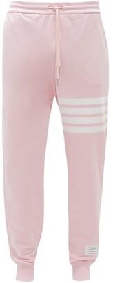 Thom Browne Logo-print Drawstring-waist Cotton Track Pants - Mens - Pink