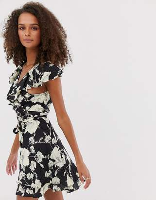 Free People French Quarter floral print dress-Black