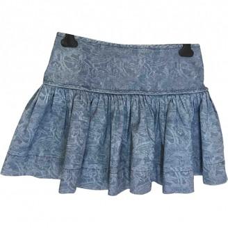 Etoile Isabel Marant Blue Cotton Skirt for Women