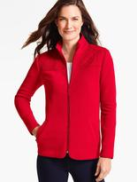 Talbots Quilted Mock-Neck Fleece Jacket