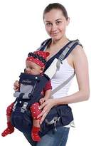 BB B&B 6-in-1 Multifunction Pure Cotton Waist Stool 3-36 month Baby&Child Carrier Soft Structured Four Position 360 To 44 Lbs (20Kg) Baby Backpack Great Gift for New Moms