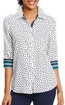 Foxcroft Plus Tennis Ball-Printed Cotton Shirt