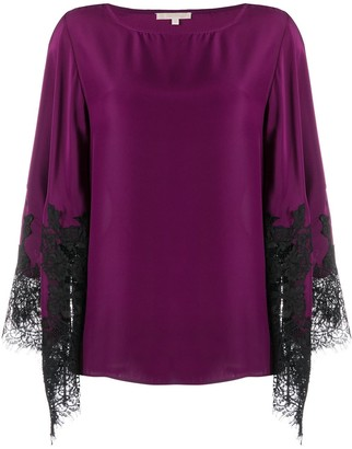 Gold Hawk Lace Sleeve Top