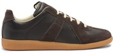 Maison Margiela Replica contrast-panel low-top leather trainers