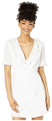 BCBGeneration Wrap Dress - TQI6289928 (Optic White) Women's Dress