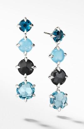 David Yurman Chatelaine(R) Drop Earrings with Blue Topaz