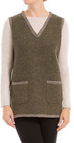 Max Studio by Leon Max HEATHERED WOOL NEEDLEPUNCHED VEST