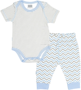 Kushies Light Gray Bodysuit & Pants - Infant