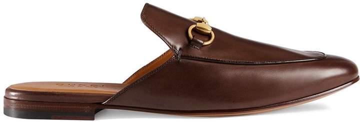 Gucci Leather Horsebit slipper