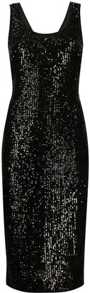 Diane von Furstenberg Mercury sequined midi dress