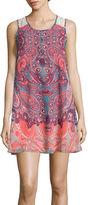 My Michelle Sleeveless Crochet-Back A-Line Dress- Juniors