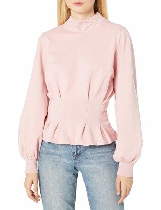 Finders Keepers findersKEEPERS Women's Amor Solid Pleat Detail Sweater Knit