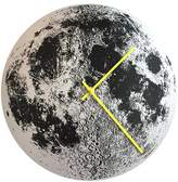 Silver Moon Clock