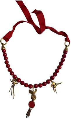 Valentino Red Pearls Necklaces