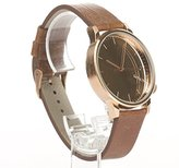 Komono 'Winston' Quartz Stainless Steel and Leather Dress Watch, Color:Brown (Model: KOM-W2893)