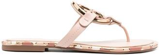 Tory Burch Miller enamel sandals