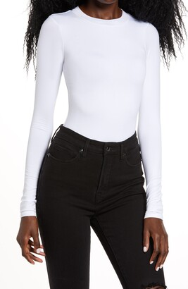 Good American Good Body Long Sleeve Bodysuit