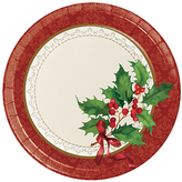 Holiday Traditions Paper Plates - Set of 24